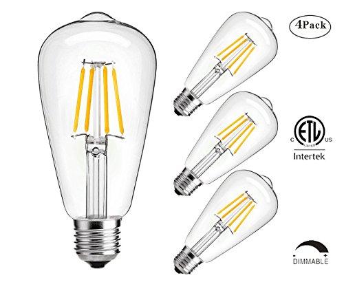 Dimmable led light bulb, 4w LED Edison Bulb, 40...