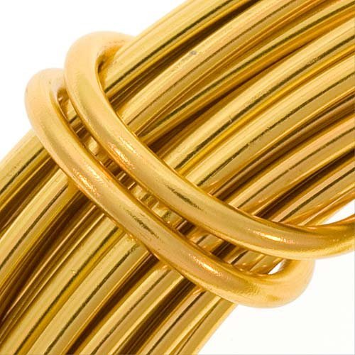 Beadsmith WCR-4132 11.8m Aluminum Craft Wire, Gold, 12 gallon/39