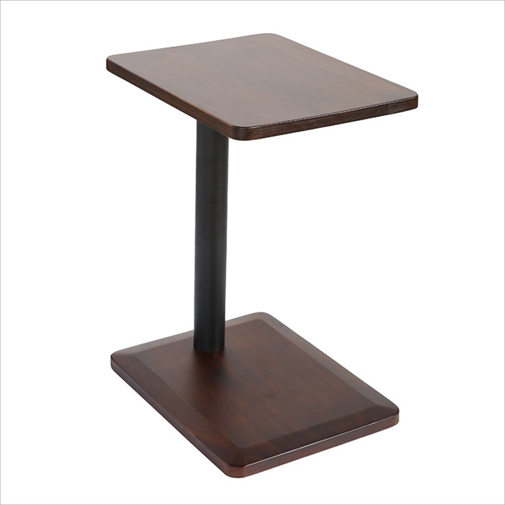 Yxsd Iron Small Square Bedside Table Laptop Desk,Mini Reading Table Phone Table Coffee Table (Color : A)