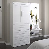 Bestar Pur 36 3 Drawer Storage Unit in White