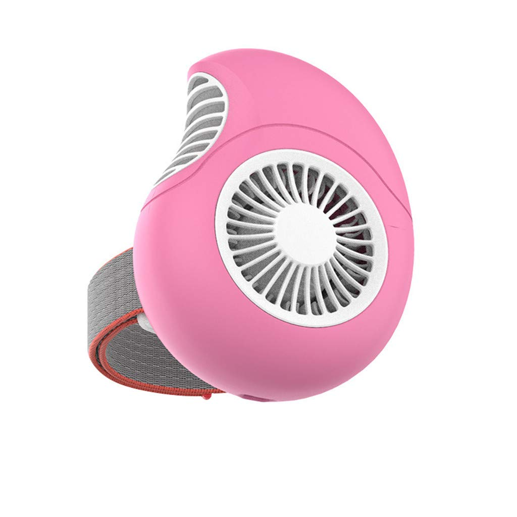 USB Charging Mini Magnetic Suction Wrist Wearable Dial Portable Small Turbine Fan for Home Office Car Outdoor Travel