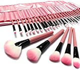 Moonight Professional Makeup Brushes & Tools -Cosmetics 32 Piece Makeup Brush Set in Vegan Leather Makeup Brush Case - Makeup Brushes Set & Make Up Brushes with High Quality Synthetic Hair Bristles
