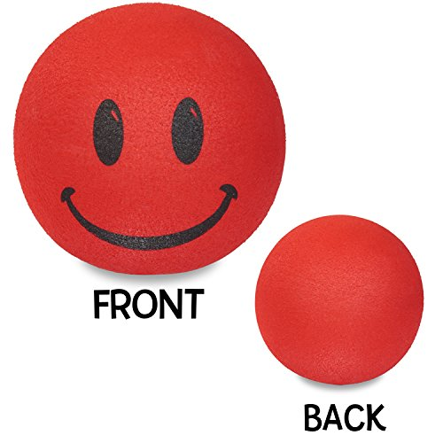 - Tenna Tops - Red Smiley Happy Face Antenna Topper/Antenna Ball/Rear View Mirror Dangler/Auto Accessory