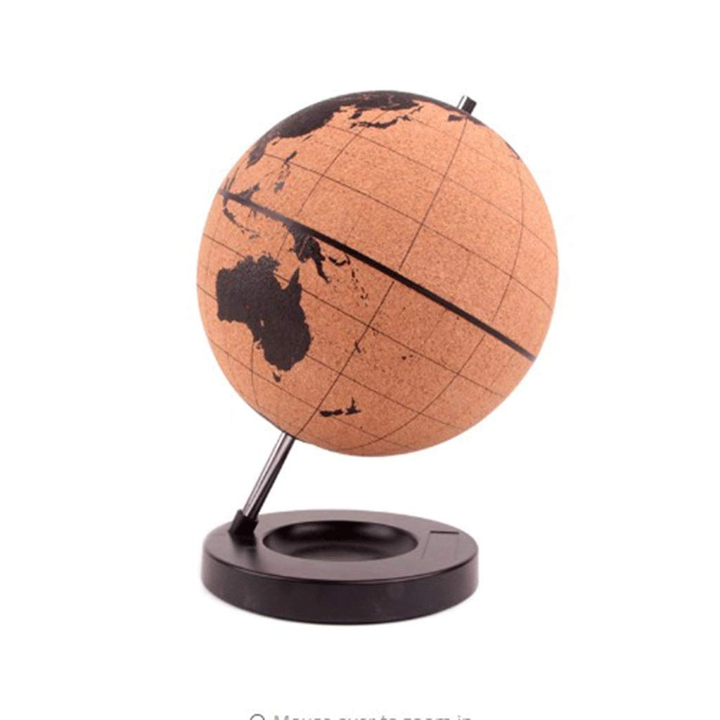 20cm TMY Office Globes Cork Wood Tellurion Globe Marble Maps Globes Home Office Decoration World Map Training Geography Map Balloon Gift (Size   20cm)