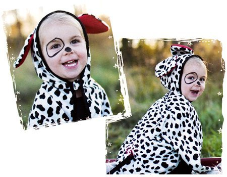 Creative Education Dalmation Dog Hooded Cape , Toddler (Dalmation Toddler Costume)
