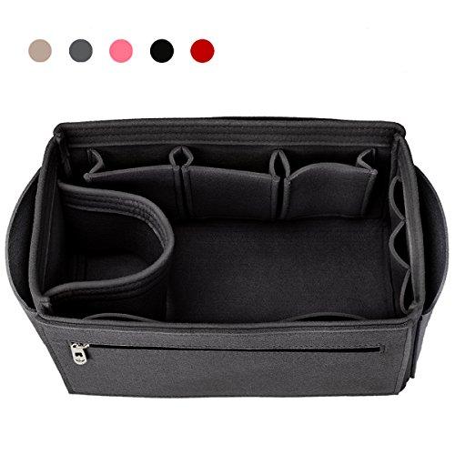 Insert Organizer, Handbag Organizer, Bag in Bag, Fit Speedy 25 -40, Neverfull, 10 Pockets, 4 Sizes, 5 Colors (4 Exterior Pockets)