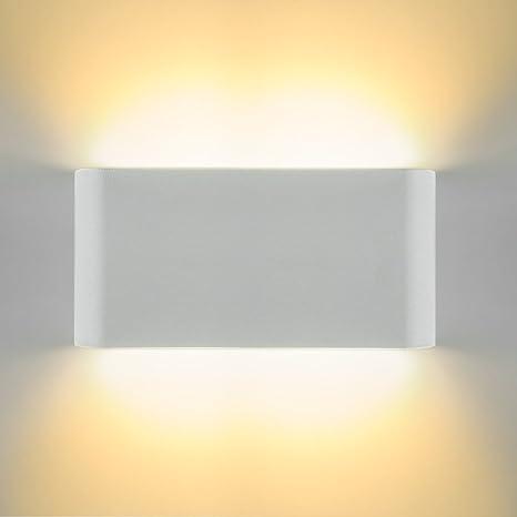 Applique a LED Impermeabile IP65 LED su e giù Lampada da interno Applique  Applique per soggiorno Camera da letto Portico Bagno Balcone(12W bianco ...