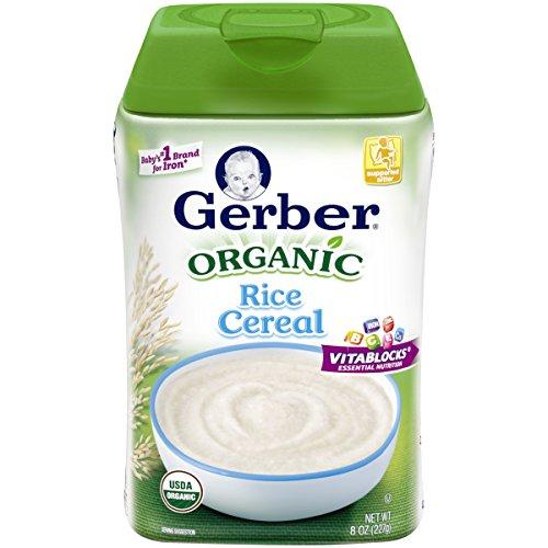 Gerber Baby Cereal Organic Rice Cereal, 8 Ounce, 6 (Gerber Rice Organic)