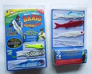 Banjo Minnow 006 - 110 Piece Fishing System Soft Plastic Fishing Lures Set
