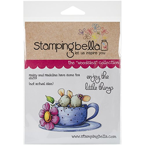 "Stamping Bella Cling Rubber Stamp 6.5""X4.5""-Maisy & Madeline Have Some Tea"