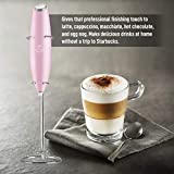 Zulay Milk Frother Handheld Foam Maker for Lattes - Great Electric Whisk Drink Mixer for Bulletproof® Coffee, Mini Blender and Foamer Perfect for Cappuccino, Frappe, Matcha, Hot Chocolate, Classic Milk Boss - Cotton Candy