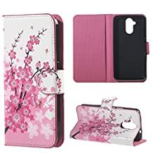 """For Acer Liquid Z410 4.5"""" Case Premium Protective Cases PU Wallet Magnetic Closure Shell Plum Flower Amaxy"""