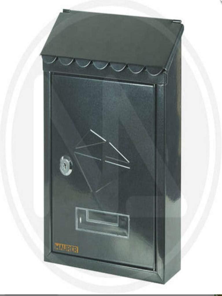 Cassetta postale in acciaio verniciato grigio con tetto STAMP