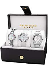 Akribos XXIV Women's AK887SS Quartz Movement Analog Display Watch Set