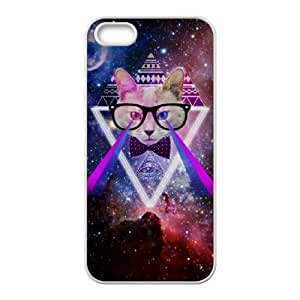 Cool Painting Galaxy Hipster Cat Original New Print DIY Phone Case for Iphone 5,5S,personalized case cover case551028