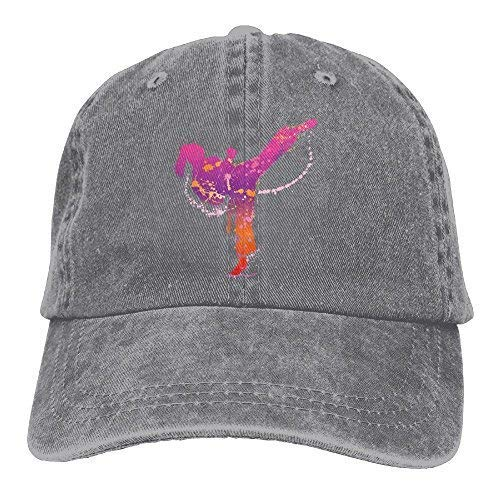 Karate Girl Denim Hat Adjustable Mens Casual Baseball Cap ()