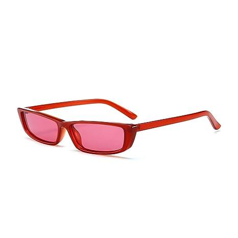 Yangjing-hl Gafas de Sol de Moda cuadradas pequeñas Gafas de ...