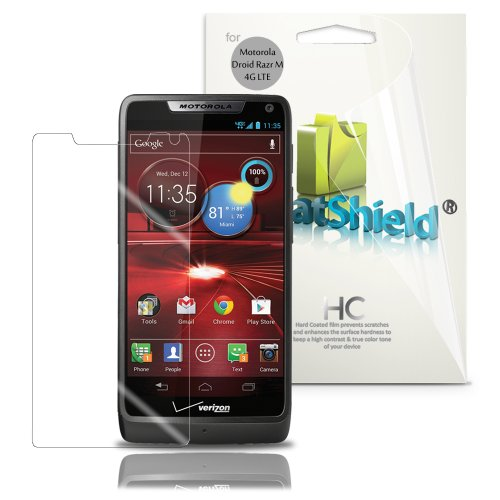 GreatShield Ultra Smooth Clear Screen Protector Film for DROID RAZR M 4G LTE XT907 (3 Pack)