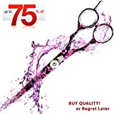 """Limited Time Price! 6.5"""" Professional Barber Salon Hair Cutting Scissors - Razor Edge Series Shears - 16.51 Cm Hair Scissors With Adjustment Screw Provided in Fine Leather Case (Hair Cutting Scissors)"""