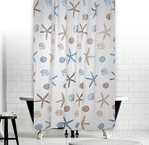 New Elegant Bathroom Shower Curtain Extra Long With Hooks