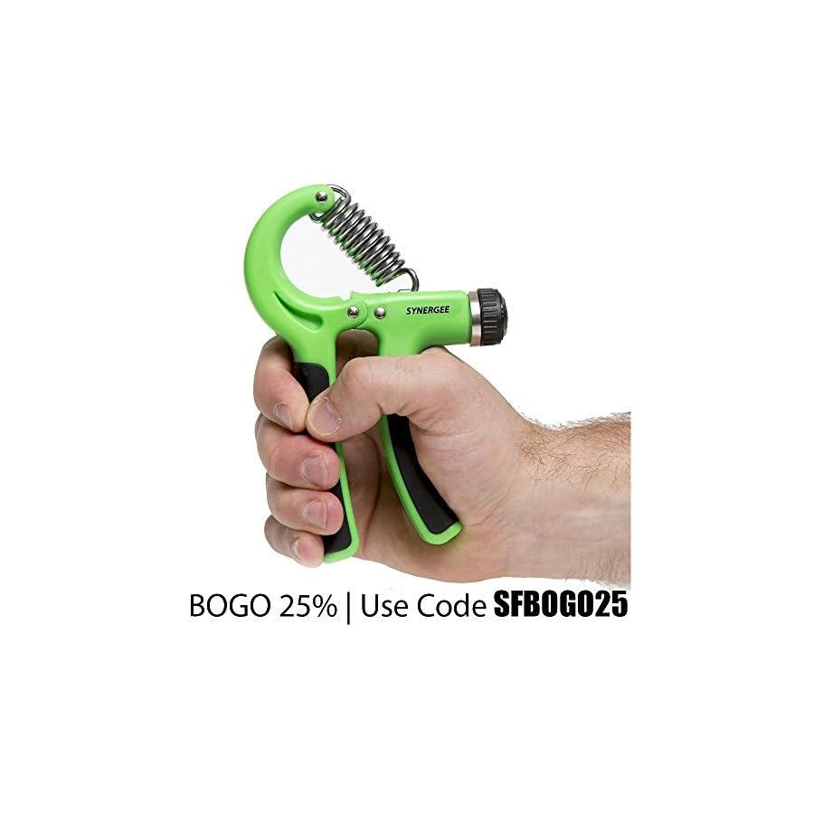 iheartsynergee Hand Gripper The Best Hand Exerciser Grip Strengthener Adjustable Resistance Range 22 to 88 Lbs