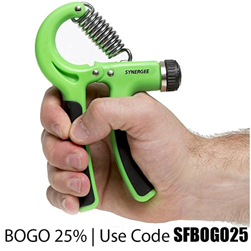 Synergee Hand Gripper The Best Hand Exerciser Grip Strengthener Adjustable Resistance Range 22 to 88 Lbs