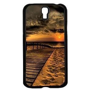 Beautiful High Contrast Beach Sunset on Boardwalk Hard Snap on Phone Case (Galaxy s4 IV)