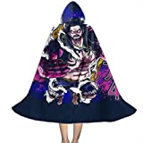 Gear 4 Luffy One Piece Unisex Hooded Cloak Cape Halloween Party Decoration Role Cosplay Costumes Black