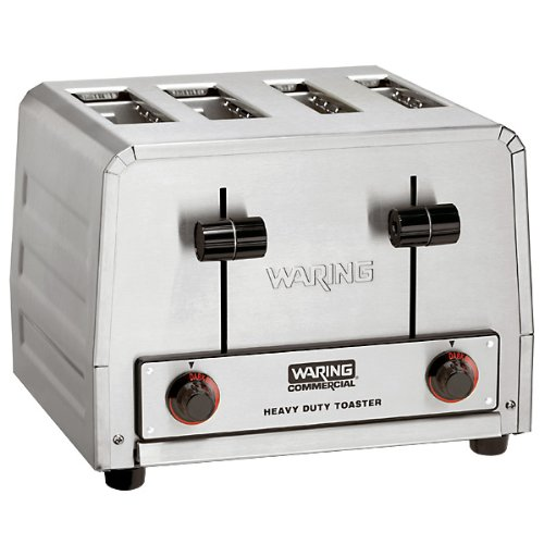 Waring Commercial WCT810 Heavy Duty Stainless Steel Bread and Bagel Combination 120-volt Toaster with 4 Slots