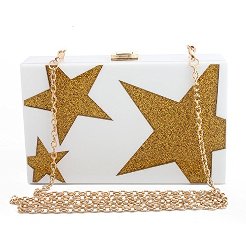 Pouch Clutch Ball NBWE Clutch Evening for Rhinestone and Girl's Ladies Party Handbag White Wedding q8wR0vq