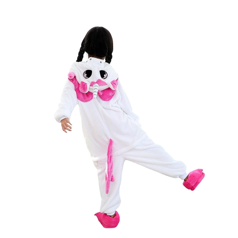fa53fc2929 DarkCom Niños Kigurumi Pijama Enterizo Animal Cosplay Disfraces De Dibujos  Animados Mono Dormir Unicornio Delicado