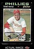 1971 Topps # 92 Fred Wenz Philadelphia Phillies (Baseball Card) Dean's Cards 2 - GOOD Phillies