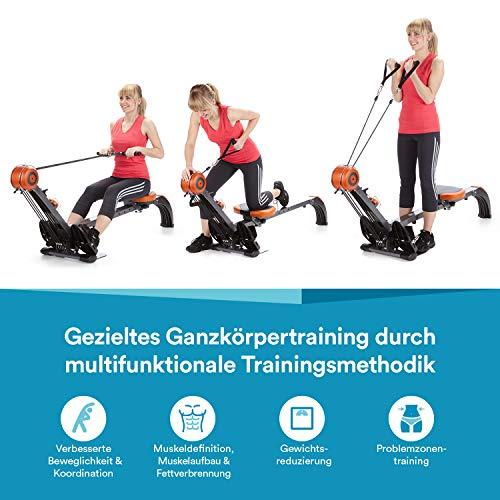 skandika Regatta Multi Gym Poseidon – máquina Remo – Plegable – Sistema de Freno silencioso – Peso 17 kg