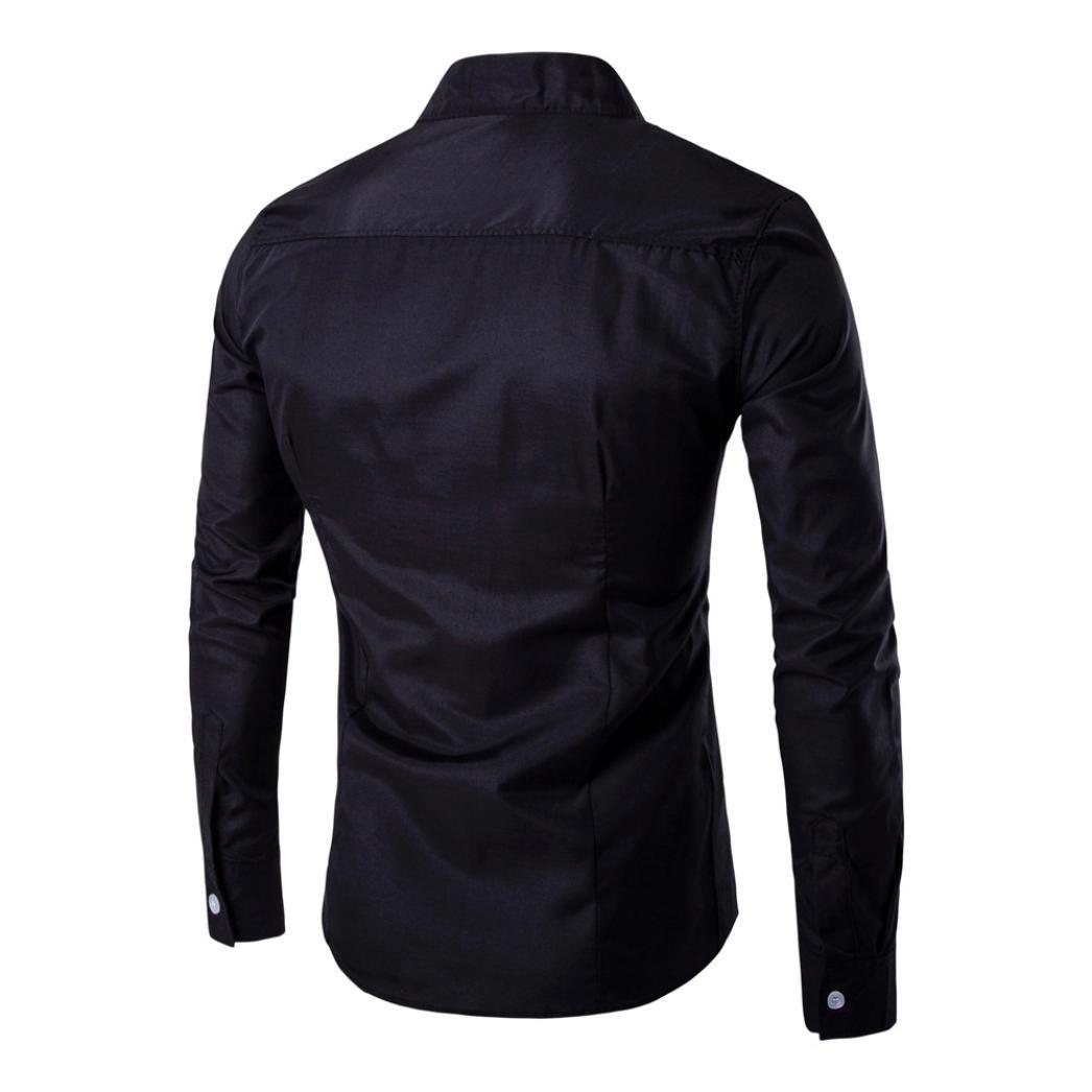 Amlaiworld Mens Casual Irregolare Slim Fit Elegante Camicia Partito Vestito Uomo