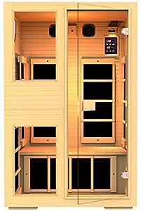 JNH Lifestyles NE2HB1 ENSI Collection 2 Person NO EMF Infrared Sauna Limited