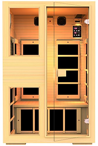 JNH Lifestyles ENSI Collection 2 Person Virtually Zero EMF Infrared Sauna (Free Sauna Emf Infrared)