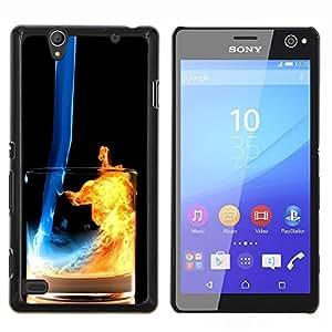 LECELL--Funda protectora / Cubierta / Piel For Sony Xperia C4 -- Fuego y Agua Cóctel --