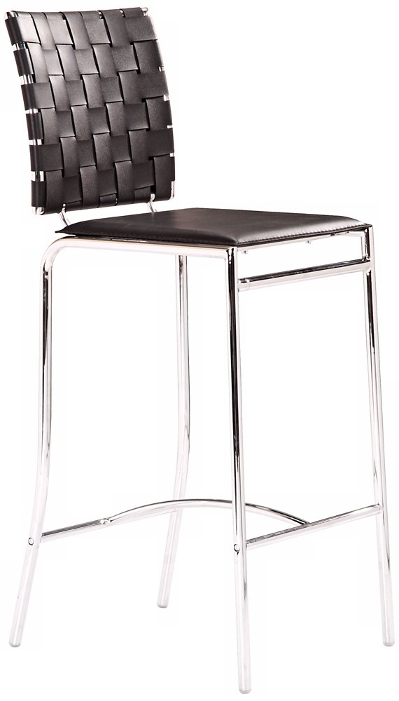 Amazon.com: Zuo Criss Cross Counter Chair, White (Set Of 2): Kitchen U0026  Dining