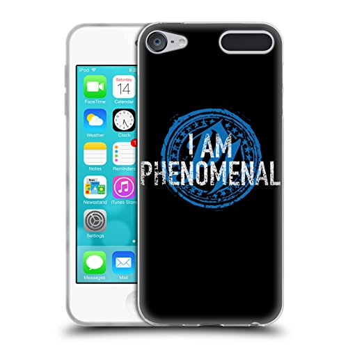 Official WWE I Am Phenomenal AJ Styles Soft Gel Case for Apple iPod Touch 6G 6th Gen ()