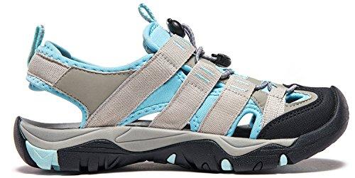ATIKA Women Athletic Outdoor Sandal, Closed Toe Lightweight Walking Water Shoes, Summer Sport Hiking Sandals
