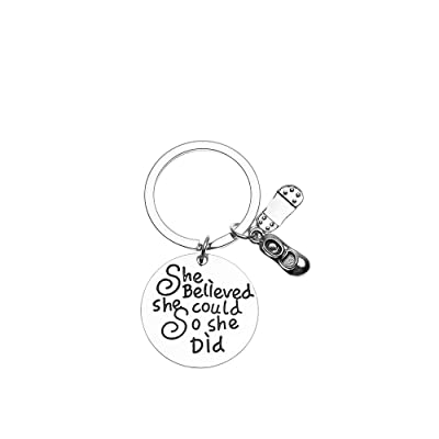 Sportybella Tap Dance Keychain, Dance Jewelry, Dance She Believed She Could So She Did Keychain, for Dancers: Automotive [5Bkhe0809988]