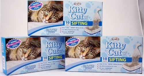 Alfa-Pet-Kitty-Cat-Pan-Liners-10-count-Pack-of-3
