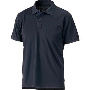 SM:0181 速乾ドライ半袖ポロシャツ>【吸汗速乾 軽量 シンプル】[S 05:ネイビー]