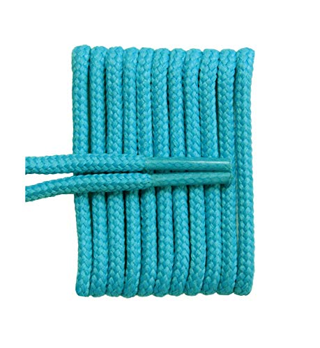 (FeetPeople Round Laces, 27 in. x 2 Pair, Teal)