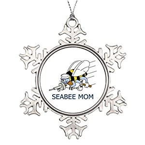 Shety Lot Tree Branch Decoration Seabee Mom Vintage Snowflake Ornaments from Shety & Lot
