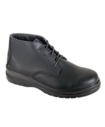 Alexandra stc-fw521bk-7 botas de seguridad para mujer, plain, piel,