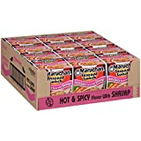 Maruchan Instant Lunch Hot & Spicy Shrimp, 2.25 Oz, Pack of 12