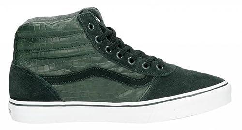 5c1f0e9e592 Image Unavailable. Image not available for. Colour: Vans WM Maddie HI MTE  groen sneakers dames