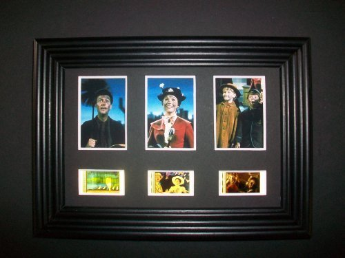 MARY POPPINS Framed Trio 3 Film Cell Display Movie Memorabilia Collectible Complements Poster Book Theater