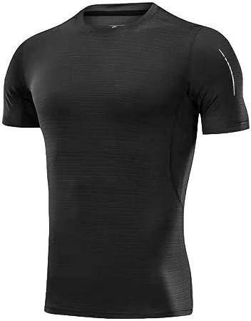 Zhanghanzong Mangas Corte Sana Deportes de los Hombres Camiseta rápida de Peso Ligero Blanco de Manga Corta básica de la Camiseta Camisa Camiseta Corta T-Top Movimiento de la Chaqueta de Hombre: Amazon.es: